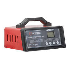 Зарядное устройство 12В, 5/10/15/20А, 230В, режим реанимации, десульфатации аккумулятора INTERTOOL AT-3021, фото 2