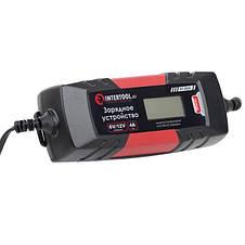 Зарядное устройство 6/12В, 1/2/3/4А, 230В, зимний режим зарядки, дисплей, максимальная емкость заряжаемого аккумулятора 1.2-120 а/ч INTERTOOL AT-3024, фото 2