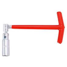 Ключ свічний Т-подібний з шарніром 16х250 мм INTERTOOL HT-1717
