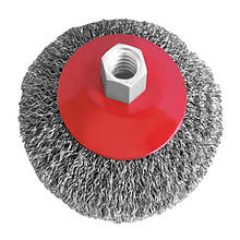 Щетка конусная 100 мм, для УШМ, М14 (витая проволока) INTERTOOL BT-5100