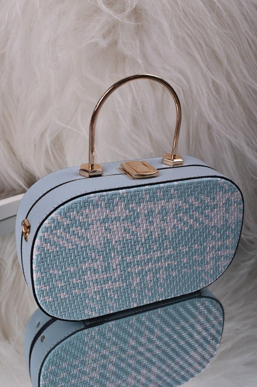Небольшая женская голубая сумка клатч код 7-2017