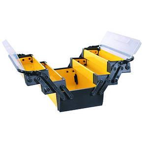 """Скринька для інструментів металевий, 18"""", 5 секцій, 454x210x230 мм INTERTOOL BX-5018, фото 2"""