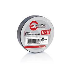 Стрічка ізоляційна 0,15 мм x 17 мм x 15 м чорна INTERTOOL IT-0016