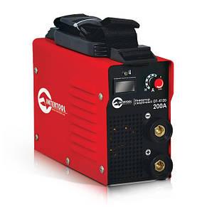 Зварювальний інвертор 230 В, 30-200 А, 7,1 кВт INTERTOOL DT-4120, фото 2
