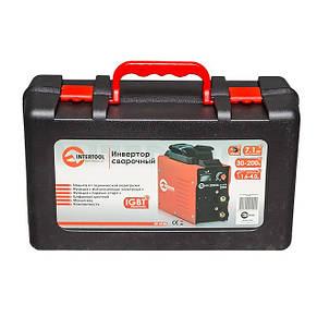 Сварочный инвертор 230 В, 30-200 А, 7,1 кВт INTERTOOL DT-4120, фото 2