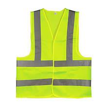 Жилет сигнальний зелений XL (60*70см), 120 гр/м2 INTERTOOL SP-2027
