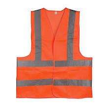 Жилет сигнальний помаранчевий XL (60*70см), 120 гр/м2 INTERTOOL SP-2028