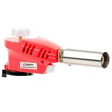 Пальник газовий, п'єзорозпал на гачку, регулятор, розсікач полум'я INTERTOOL GB-0023