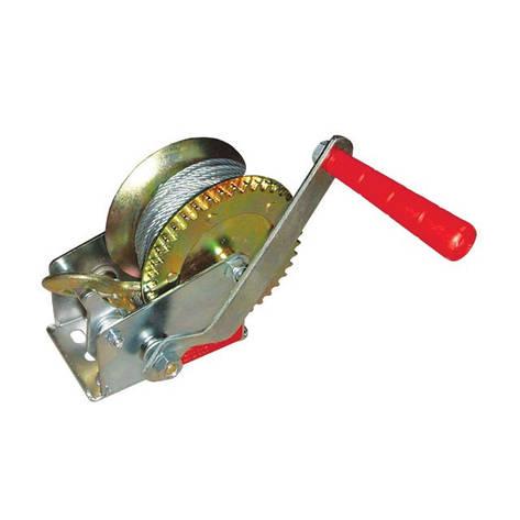 Лебідка важільна барабанна сталевий трос тягове зусилля 450 кг INTERTOOL GT1454, фото 2