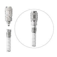Быстроразъемное соединение с пружиной для спиральных и прямых шлангов 5,5х8 мм INTERTOOL PT-1830, фото 3