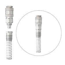 Швидкороз'ємне з'єднання з пружиною для спіральних і прямих шлангів 8х12 мм INTERTOOL PT-1832, фото 3