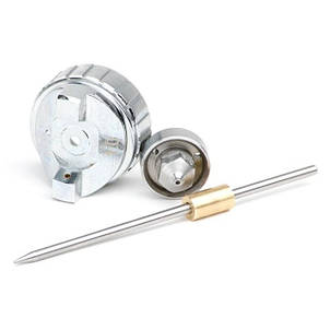 Комплект форсунки 1.0 мм для фарбопульта LVMP mini PT-0129 (дюза, повітряна головка, голка) INTERTOOL PT-2108, фото 2