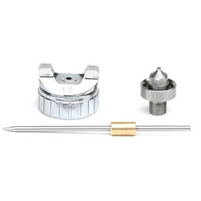 Комплект форсунки 1.0мм для краскопульта LVMP mini PT-0129 (дюза, воздушная головка, игла) INTERTOOL PT-2108, фото 2