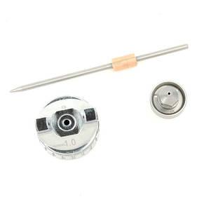 Комплект форсунки 1.0 мм для фарбопульта LVMP mini PT-0129 (дюза, повітряна головка, голка) INTERTOOL PT-2108, фото 3