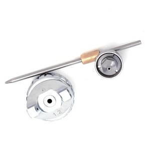 Комплект форсунки 1.2мм для краскопульта LVMP mini PT-0129 (дюза, воздушная головка, игла) INTERTOOL PT-2109, фото 3