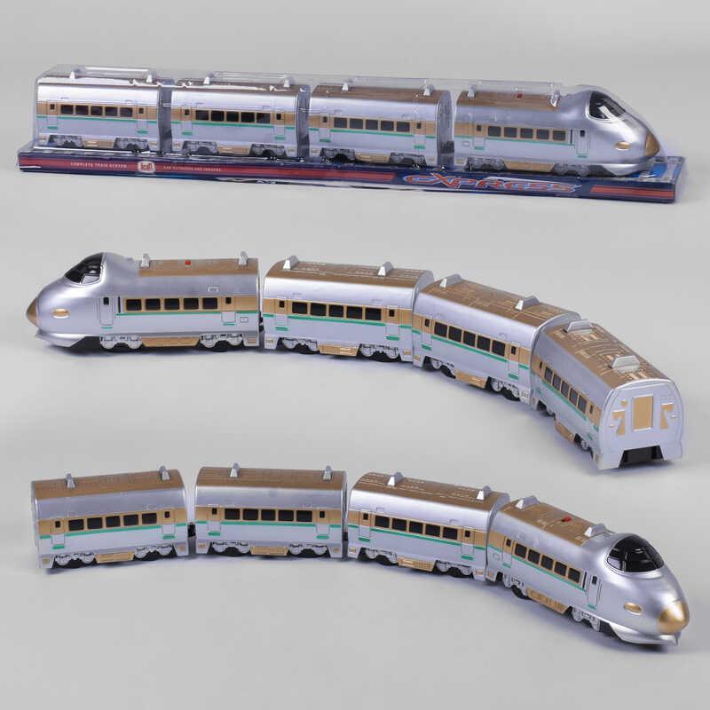 Поезд 757 Р (24) с 3-мя вагонами, звук, на батарейках, в слюде