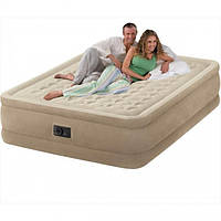 Надувная двухспальная кровать Intex Ultra Plush Bed со встроенным электронасосом