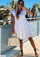 Платье летнее короткое белое SKL11-259416