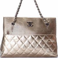 Женская сумка CHANEL style (13725 Gold)