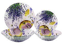 Сервиз обеденный стекло Lumines 19 предметов Лаванда макарун (W031)