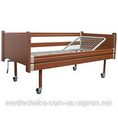 Кровать многофункциональная 2-секционная OSD-93, с колесами, с поручнями, механическая, дерево