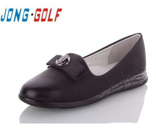 Туфли подросток черные,туфли детские школьные на девочку Jong-Golf-C93045-0