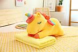 Плед іграшка подушка 3 в1 Єдиноріг   Іграшка дитячий плед   Іграшки-Подушки   М'яка іграшка Рожевий, фото 10