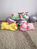 Плед іграшка подушка 3 в1 Єдиноріг   Іграшка дитячий плед   Іграшки-Подушки   М'яка іграшка Рожевий, фото 4
