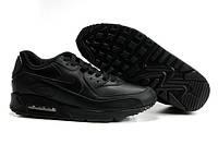 "Кроссовки Nike Air Max 90 ""Black Leather"" (Копия ААА+), фото 1"