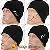 Мужские вязанные шапки без отворота с флисом (1412)
