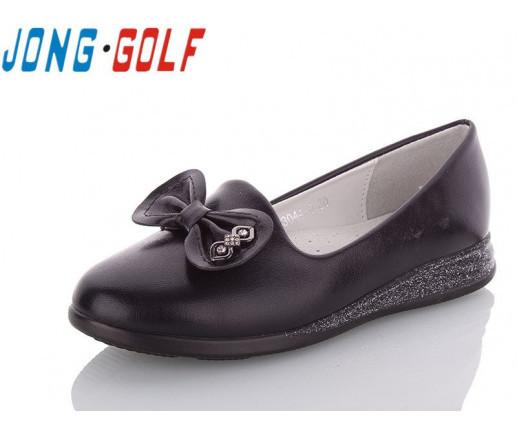 Туфли подросток черные,туфли детские школьные на девочку Jong-Golf-C93044-0