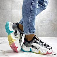 Женские разноцветные кроссовки Balenciaga на массивной подошве