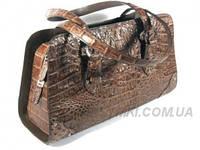 Женская сумка из кожи крокодила RIVER (BCM 357 Nicotine)