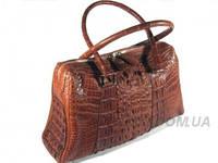 Женская сумка из кожи крокодила RIVER (BMT 706 Cognac), фото 1