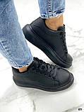 Женские кроссовки кеды Макквин черные, фото 2