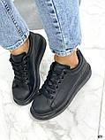 Женские кроссовки кеды Макквин черные, фото 3
