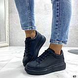 Женские кроссовки кеды Макквин черные, фото 5