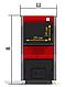 Твердотопливный котел ProTech D Luxe 30 кВт  укомплектован термометром с погружным термобаллоном, фото 4