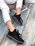 Жіночі кросівки текстильні YEEZY білі, фото 6