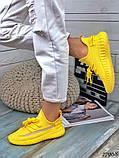Жіночі кросівки текстильні YEEZY білі, фото 7