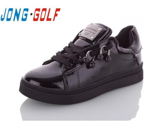 Туфли подросток черные,туфли детские школьные на девочку Jong-Golf-C10041-0