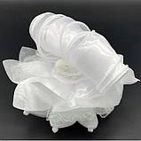 Большой белый бант объемный с локонами 12,5 см, фото 3