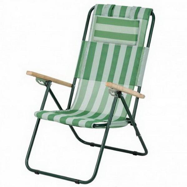 Кресло-шезлонг складное Vitan Ясень (960х585х1020мм), бело-зеленое