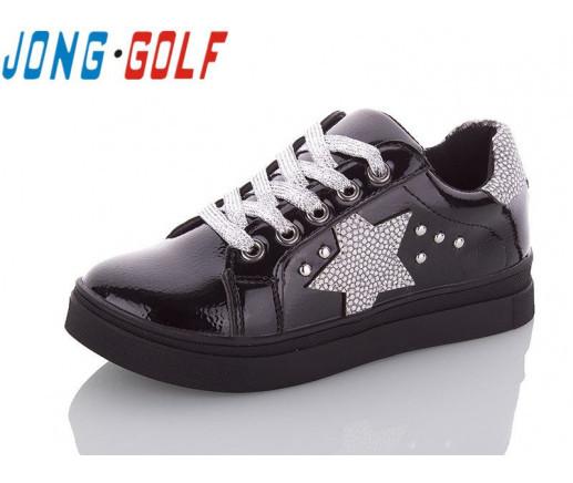 Туфли подросток черные,туфли детские школьные на девочку Jong-Golf-C10039-0