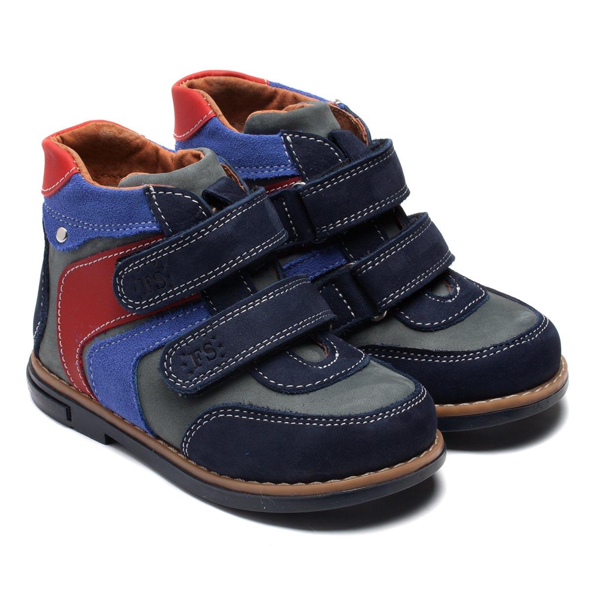 Замшевые утепленные осенние ботинки FS Collection для мальчика, размер 20-28