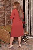 Женское платье рубашка миди батал, фото 3