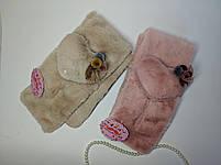 Шарфик с игрушкой Меховый шарф для девочки, фото 2