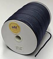 Шнур круглый одежный темно-синий  диаметр 4 мм.