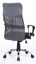 Кресло Bonro Manager серое, фото 3