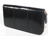 Кошелек на молнии из кожи морской змеи River (SN 11 Black)